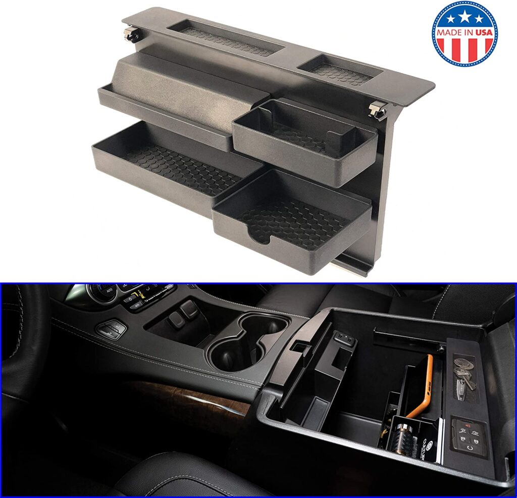 MX Auto Center Console Organizer-Best for 2019 Chevy Tahoe