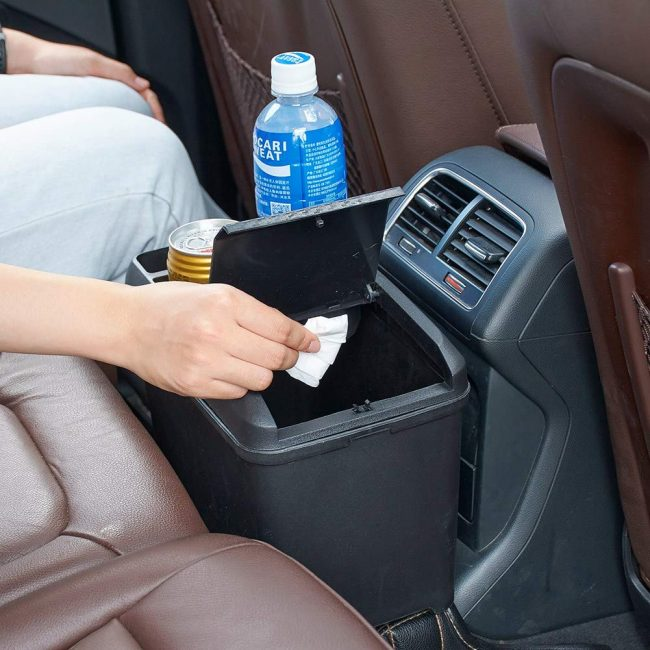 Multi-Function Aumo-mate Car Trash Can Storage Box-Best for 2016 Prius Center Console Organizer