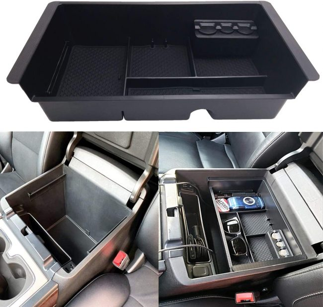 GM Center Console Organizer by Jojomark - Best for 2015 Chevy Tahoe