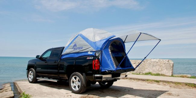 The-5-Best-Bed Tents-for-Silverados - sportz-truck-tent-rainfly